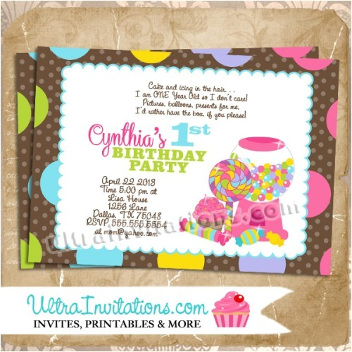 candyland birthday invites c