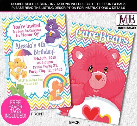 care bears invitations care bears birthday