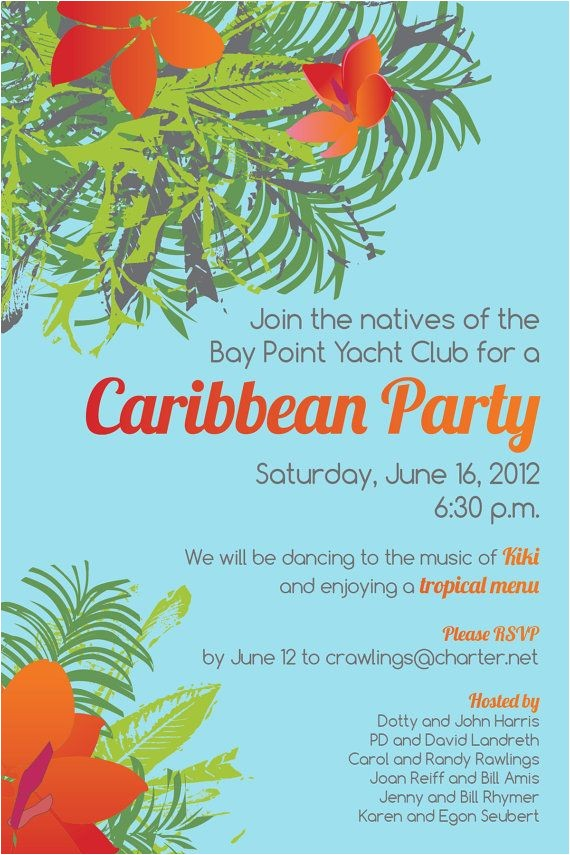 Caribbean Party Invitations 163 Best Images About Caribbean Party On Pinterest