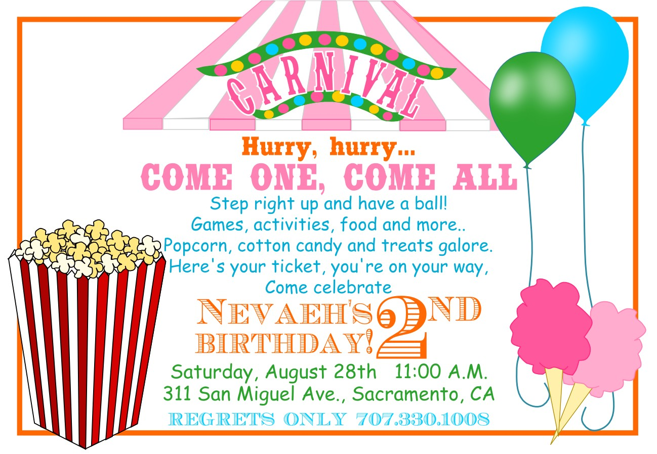 carnival invitations template