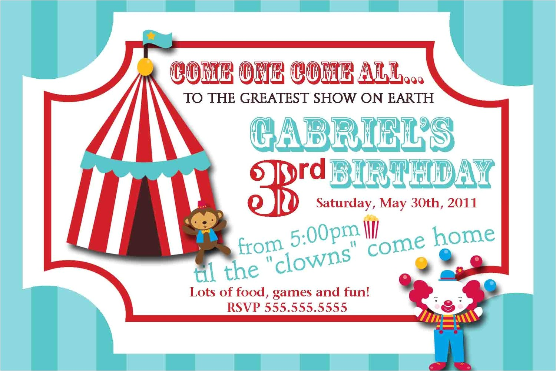 carnival ticket invitation templates