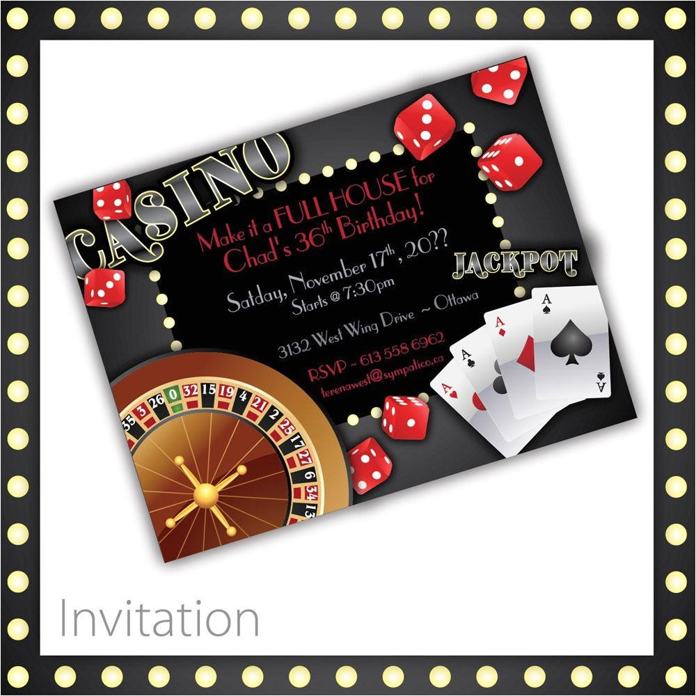 Casino Invites for Parties Casino Invitations Casino Night Casino Birthday