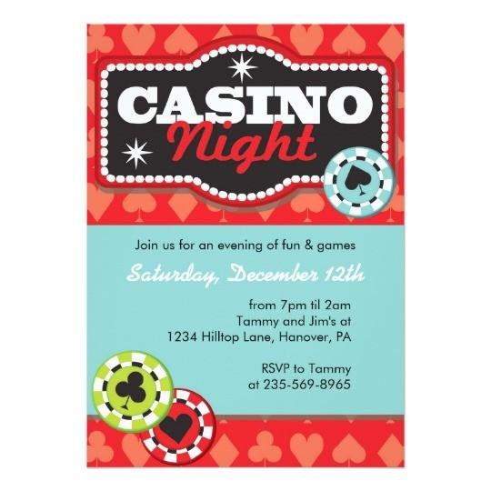casino night party invitations 161862490081381080