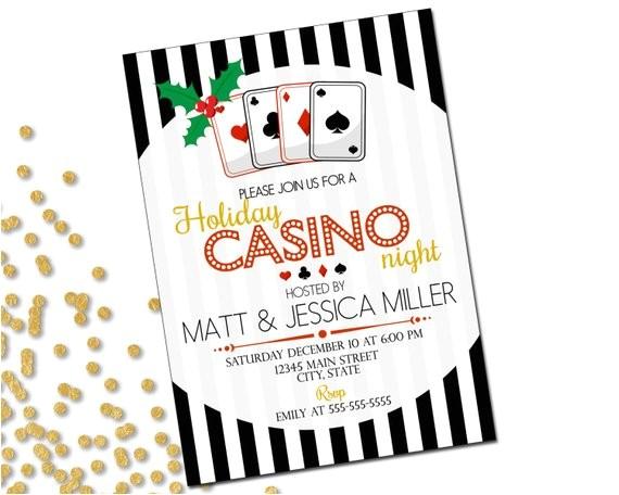 holiday party invitation casino holiday