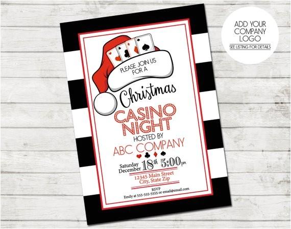 holiday party invitation casino holiday party 5