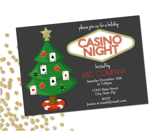 Casino Night Holiday Party Invitations Holiday Party Invitation Company Casino Holiday Party