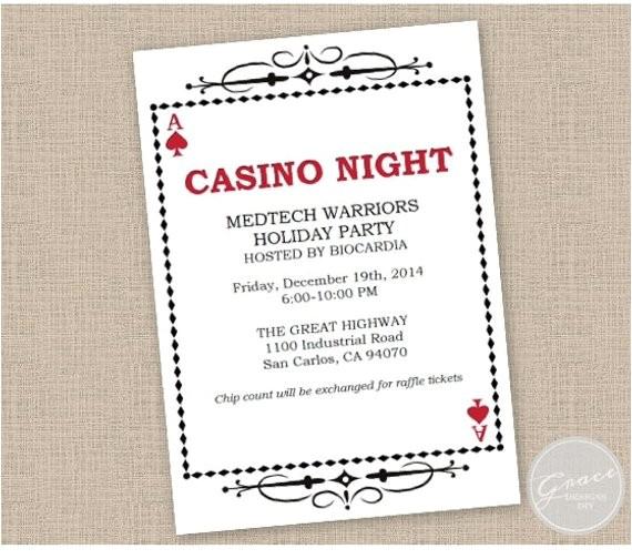 printable casino night invitation