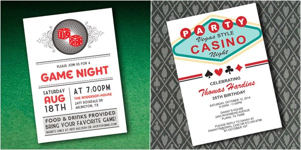casino invitations template