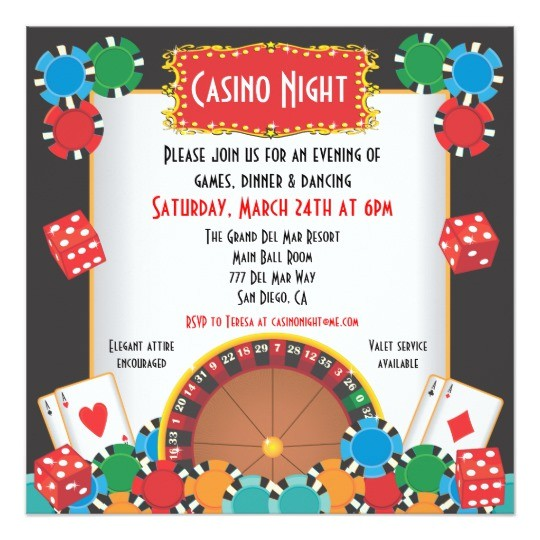 casino night party event invitation 161056572708899996