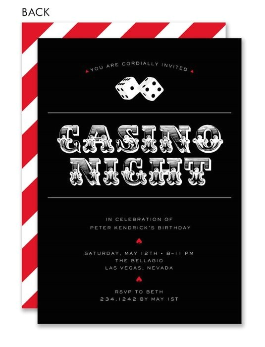 casino party invitations template