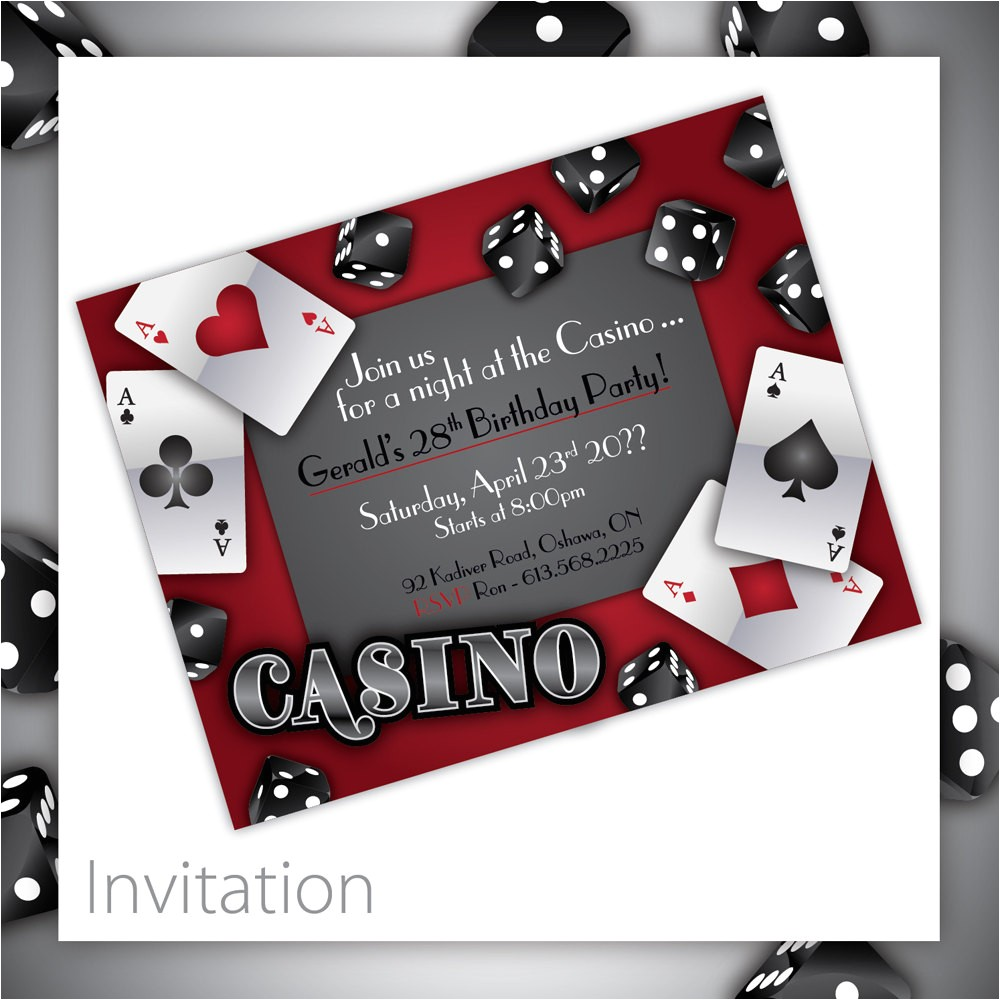 casino theme party invitations
