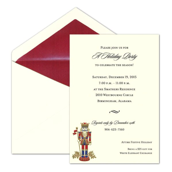 nutcracker embossed foil christmas invitations p 9 82926