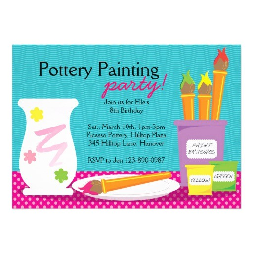 pottery painting party invitations 161407924679734482
