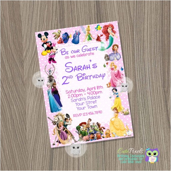 disney invitation disney girl invitation disney