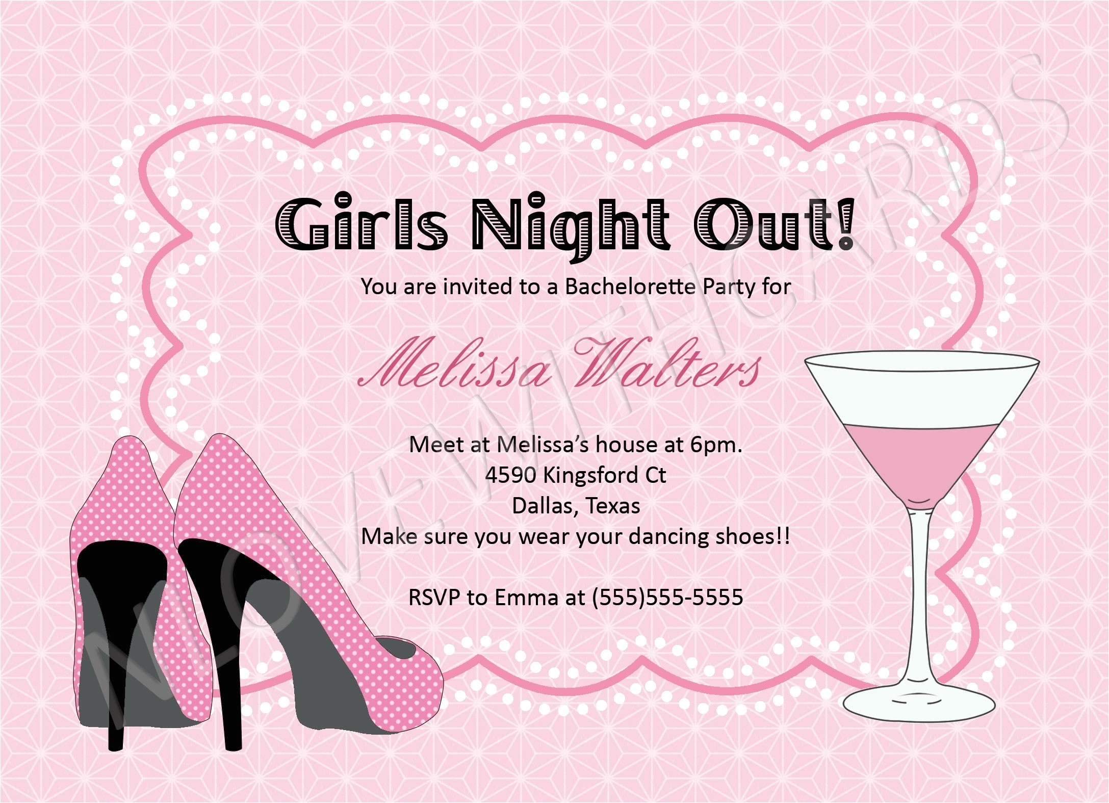 cheap bachelorette party invitations template
