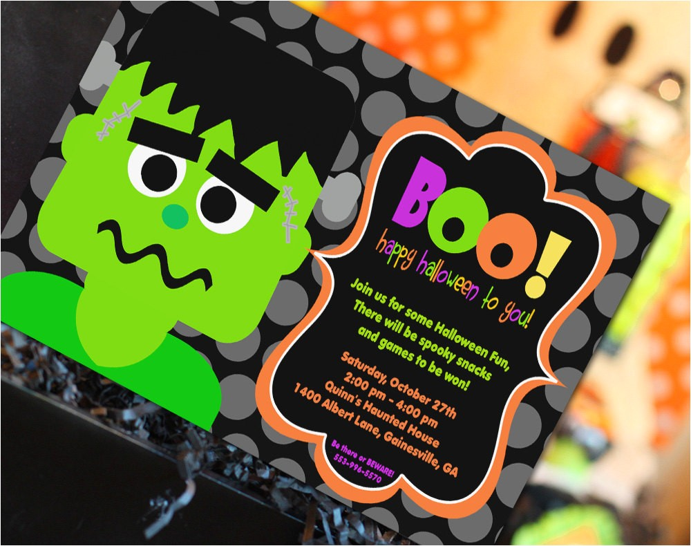 halloween birthday invitations cheap