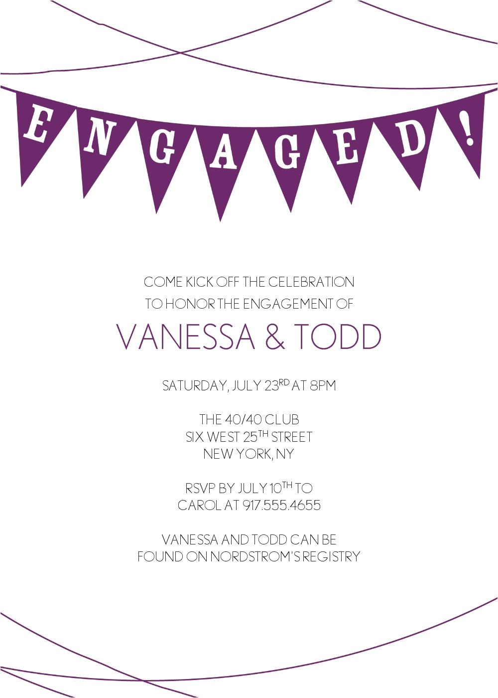cheap engagement party invitations online