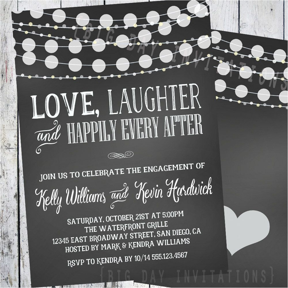 cheap engagement party invitation packs