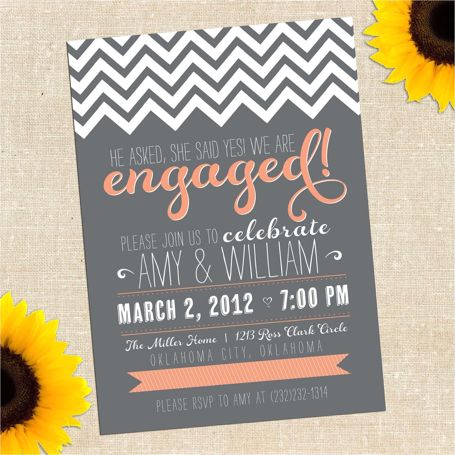cheap rustic engagement party invitations