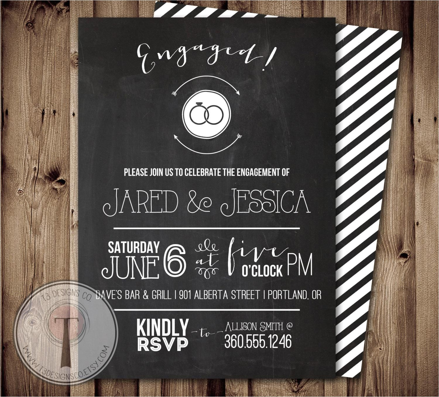 cheap engagement party invitations