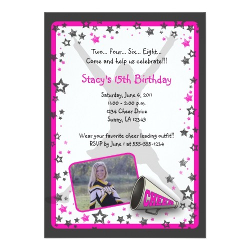 12910 cheerleader invitations