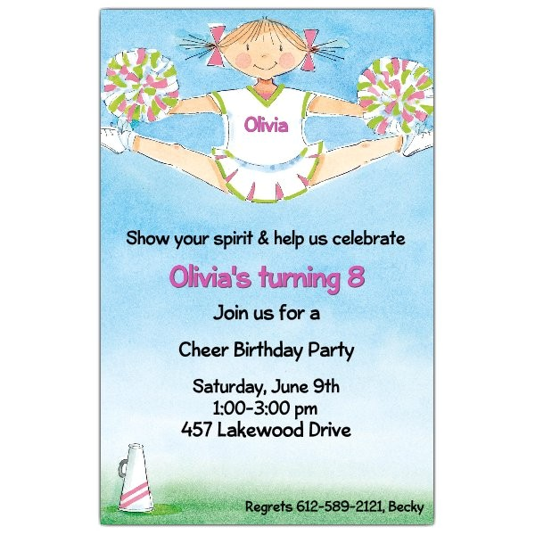 cheerleading pixie split birthday invitations p 612 58 21832itb
