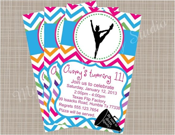 cheerleading themed printable party