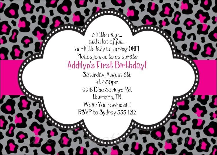 cheetah print invitations free