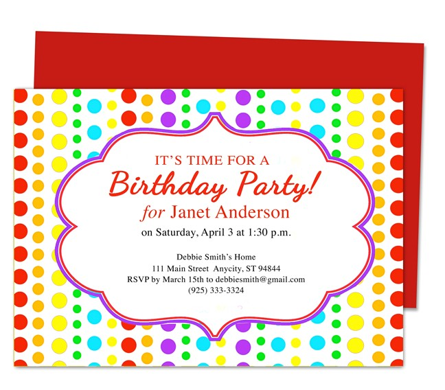 Childrens Birthday Party Invitation Templates Birthday Party Invitation Template Best Template Collection