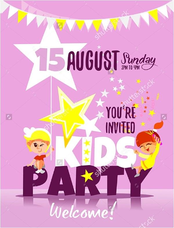 kids party invitation