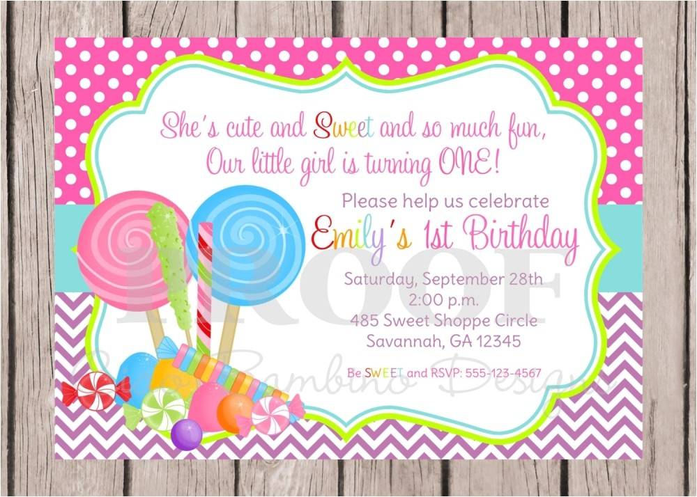 candy themed invitations template