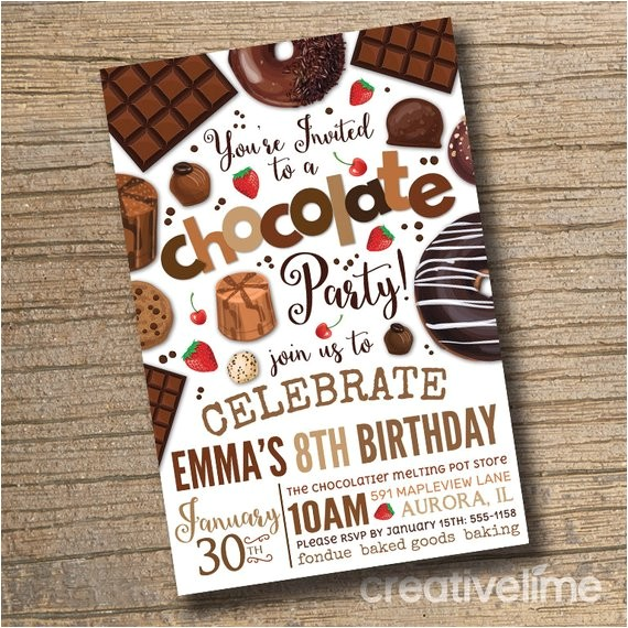 printable chocolate party invitation