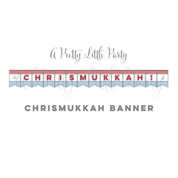 chrismukkah banner chrismukkah sign christmas hanukkah