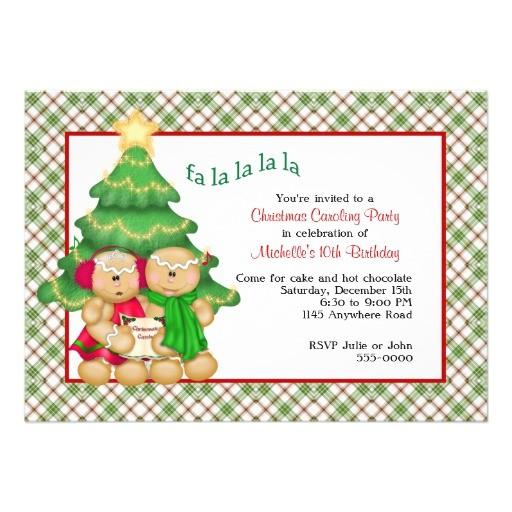 christmas carol invitations