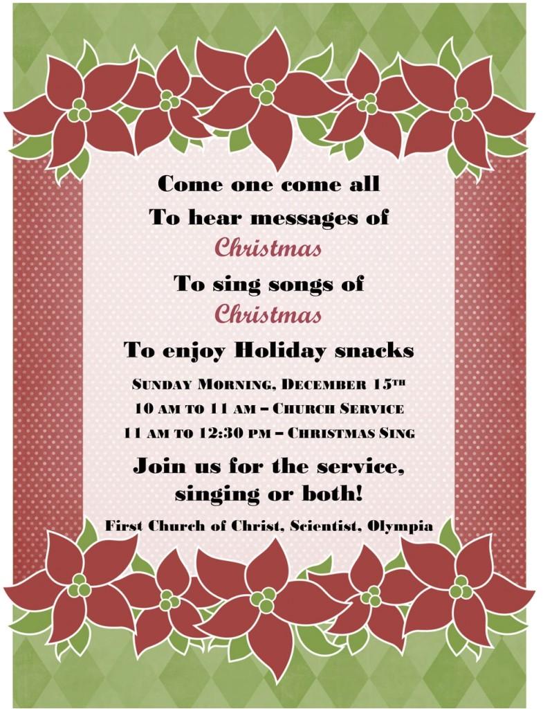 christmas carolhymn sing a long dec 15