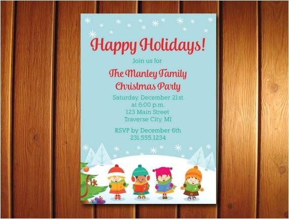 carolers christmas invitations christmas party printables