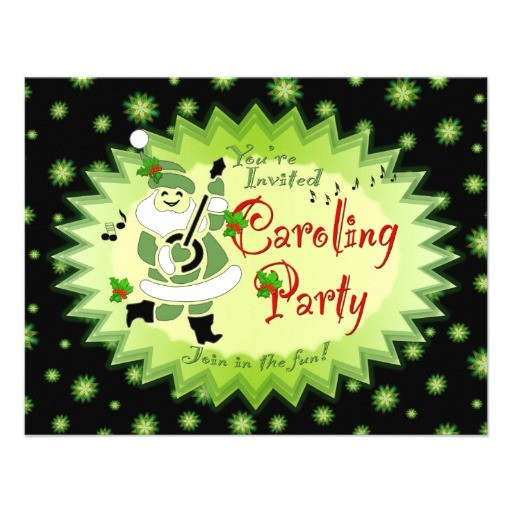 musical santa elf christmas caroling party invitat invitation 161602069408905735