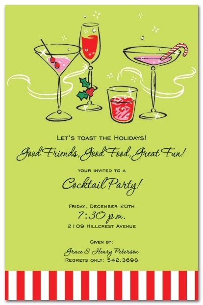 holiday cocktail party invitation wording 3028