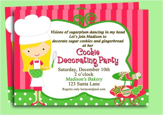 christmas cookie invitation printable or