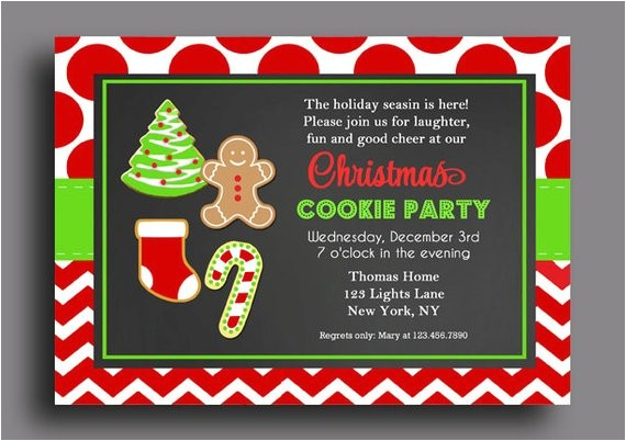 christmas cookie invitation printable cookie swap 3