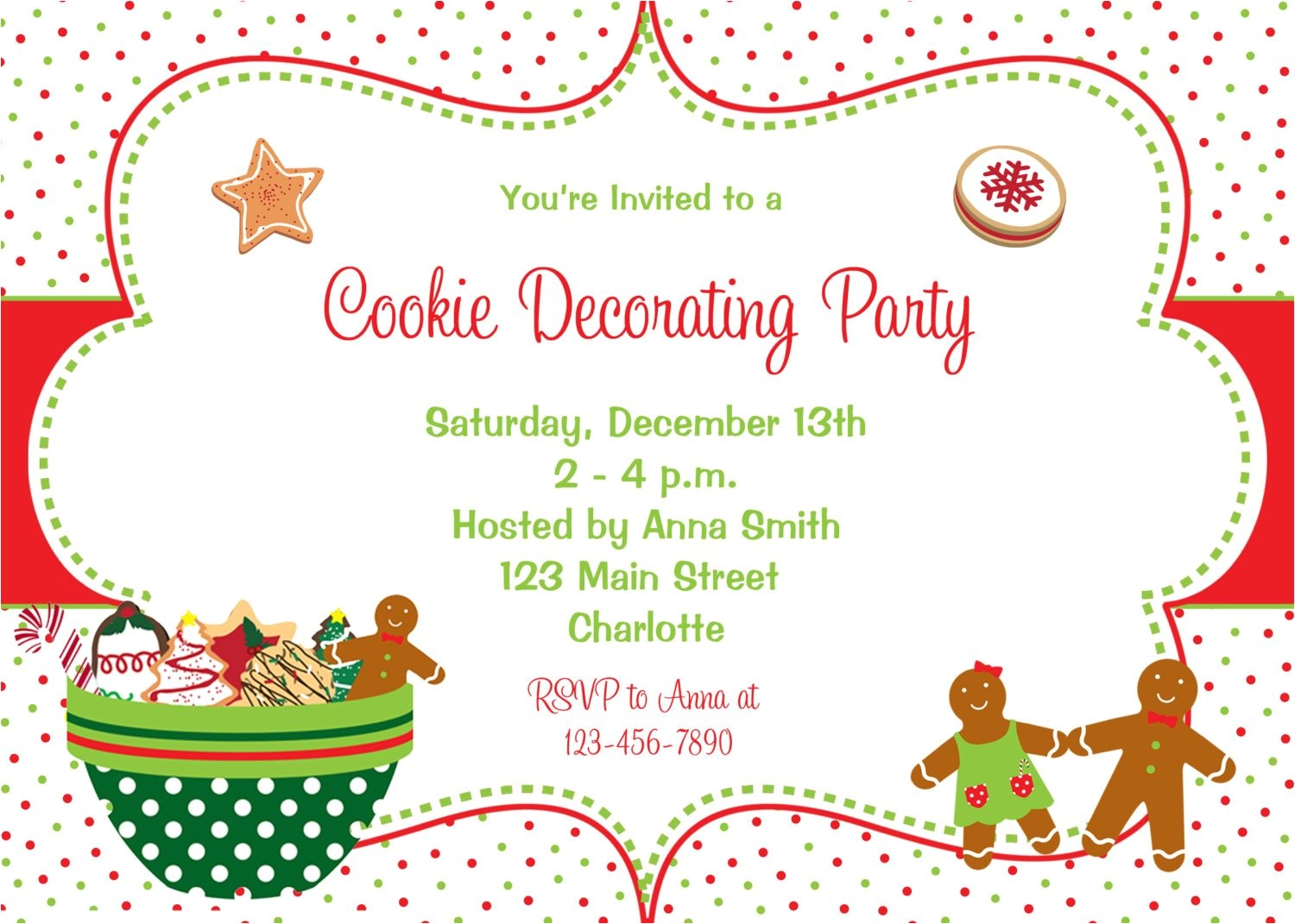 cookie decorating party invitation
