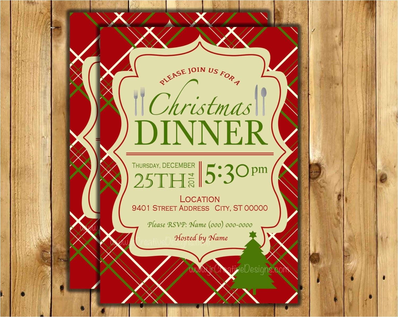 christmas dinner invite christmas dinner