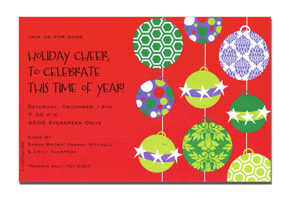 christmas eve party invitation templates