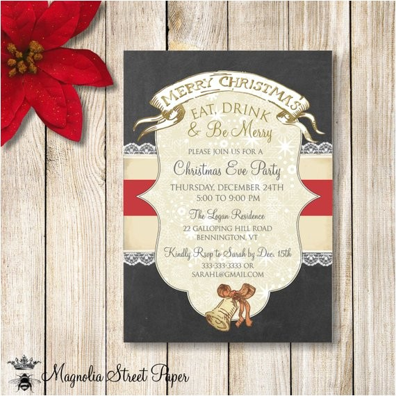christmas party invitation chalkboard christmas party