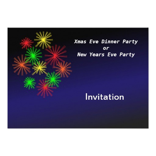 christmas party or new years eve party invitation 161221890163347453