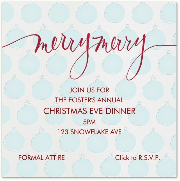 christmas eve invitations