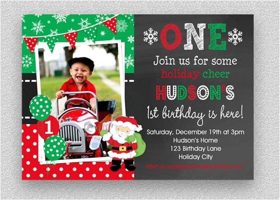 christmas birthday invitation christmas