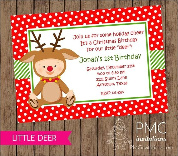 first birthday christmas party invitation envelope 4