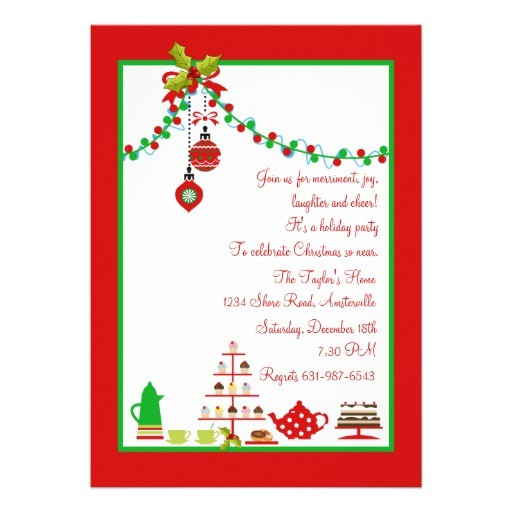 christmas luncheon invitation ideas