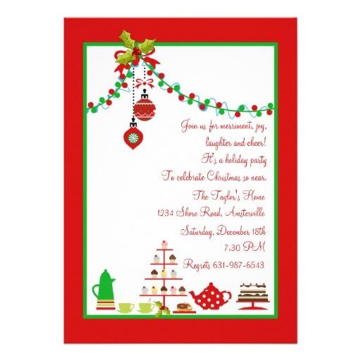 christmas luncheon invitation ideas